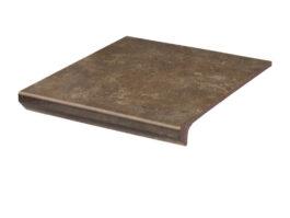 Фронтальная клинкерная ступень с капиносом Paradyz Ilario Brown, 330*299*11 мм