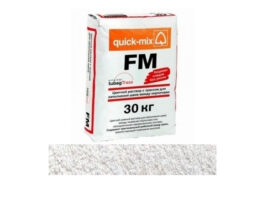 Цветной раствор с трассом для заполнения швов quick-mix FM.A алебастрово-белый, 30 кг
