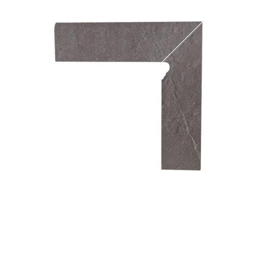 Цоколь структурный правый/левый Paradyz Taurus Grys