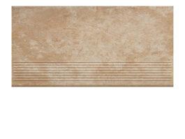 Фронтальная клинкерная ступень простая Paradyz Ilario Beige, 300*600*11 мм