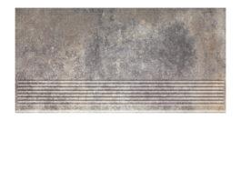 Фронтальная клинкерная ступень простая Paradyz Viano Grys, 300*600*11 мм
