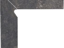 Цоколь структурный правый/левый Paradyz Viano Antracite, 300*81*11 мм