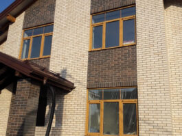 Фасадные термопанели с клинкерной плиткой Scandiano Brown