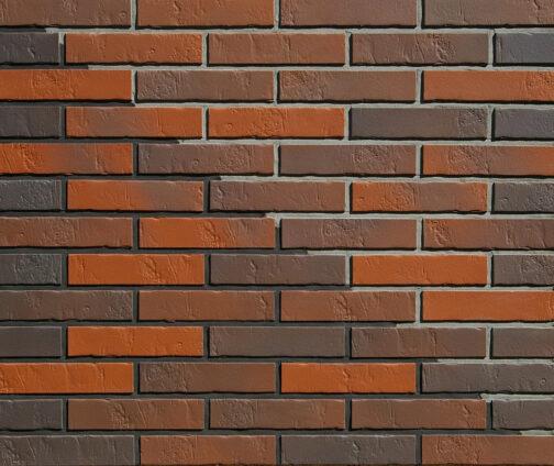 Клинкерная фасадная плитка под кирпич ABC Naturbrand Schieferstruktur