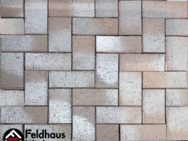 Тротуарная клинкерная брусчатка Feldhaus Klinker P705 SKF umbra flamea