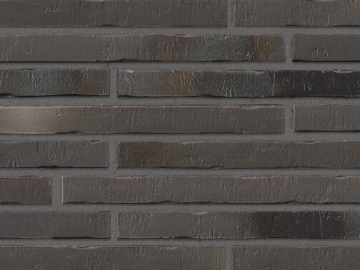 Клинкерная плитка под кирпич ригель формата Stroeher RIEGEL 50 453 silber-schwarz