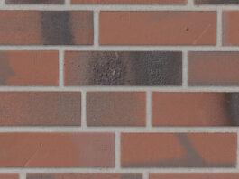 Клинкерная плитка под кирпич Stroeher Brickwerk 654 flammenrot