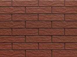Клинкерная фасадная плитка под кирпич Burgund Rustic 240*65*6.5 мм