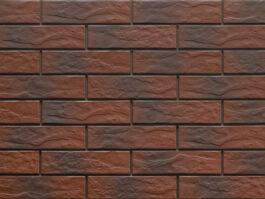 Клинкерная фасадная плитка под кирпич Burgund Shadow Rustic 240*65*6.5 мм