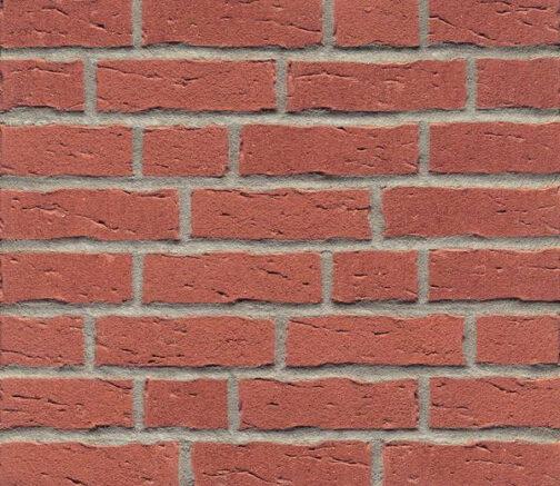Фасадные термопанели с клинкерной плиткой Feldhaus Klinker R694 Sintra carmesi