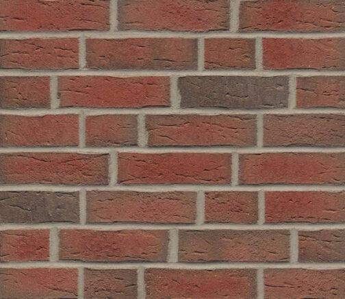 Фасадные термопанели с клинкерной плиткой Feldhaus Klinker R689 Sintra ardor