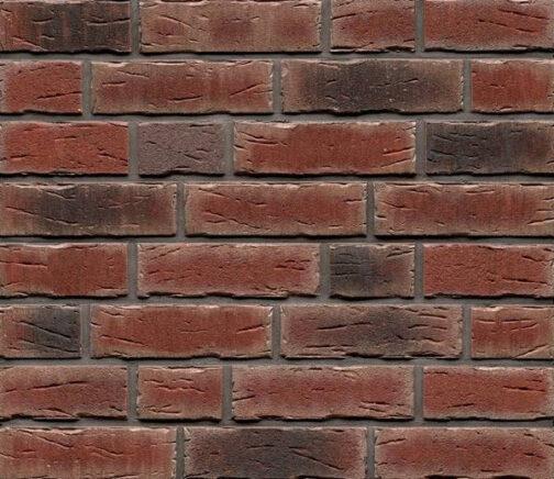 Фасадные термопанели с клинкерной плиткой Feldhaus Klinker R663 Sintra cerasi nelino