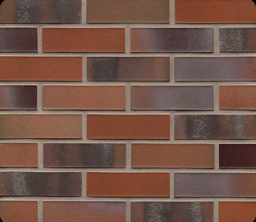 Фасадные термопанели с клинкерной плиткой Feldhaus Klinker R560 Carbona carmesi colori