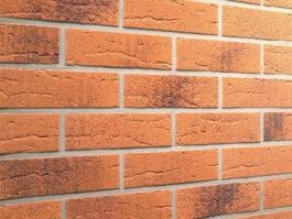 Клинкерная фасадная плитка Feldhaus Klinker R228 Terracotta rustico carbo