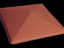 Клинкерный заборный оголовок KING KLINKER Рубиновый красный (01)