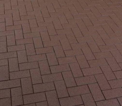 Тротуарная клинкерная брусчатка Feldhaus Klinker P502 KDF umbra plano