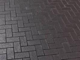 Тротуарная клинкерная брусчатка Feldhaus Klinker P609 KF umbra ferrum