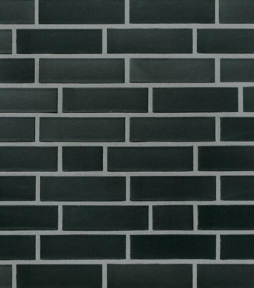 Клинкерная фасадная плитка под кирпич Roben Faro schwarz-nuanciert glatt