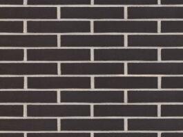 Клинкерная плитка Feldhaus Klinker ригель формата anthracit liso R700LDF