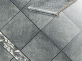 Клинкерная напольная плитка Stroeher Roccia 840 grigio, 294*294*10 мм