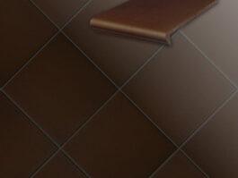 Клинкерная напольная плитка Stroeher Terra 210 braun, 240*240*12 мм