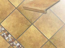 Клинкерная напольная плитка Stroeher Roccia 834 giallo, 294*294*10 мм