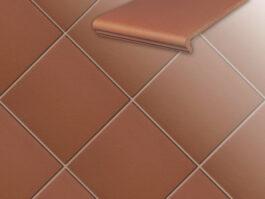 Клинкерная напольная плитка Stroeher Terra 215 patrizierrot, 240*240*12 мм