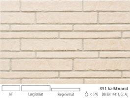 Клинкерная плитка под кирпич Stroeher Zeitlos 351 kalkbrand