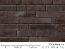 Клинкерная плитка под кирпич Stroeher Zeitlos 359 kohlenglanz