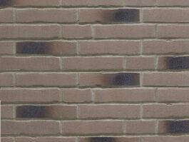 Клинкерная фасадная плитка под кирпич Stroeher Handstrich 393 eisenasche