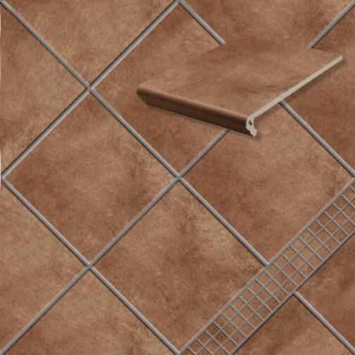 Клинкерная напольная плитка Stroeher Aera T 712 marone