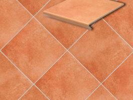 Клинкерная напольная плитка Stroeher Cadra 523-cotto, 294*294*8 мм