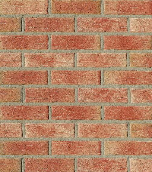 Клинкерная фасадная плитка под кирпич Roben Aarhus Rot-bunt