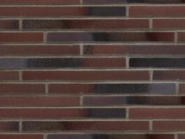 Клинкерная плитка под кирпич ригель формата Stroeher RIEGEL 50 455 braun-blau