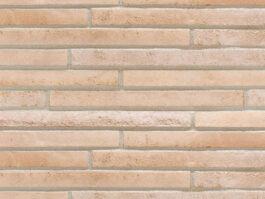 Клинкерная плитка под кирпич ригель формата Stroeher STILTREU 454 creme-weiss