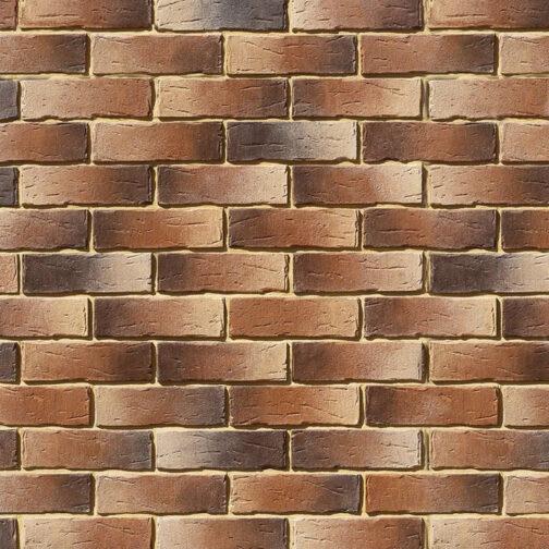 Облицовочный камень под кирпич ручной формовки Сити Брик 378-40