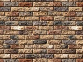 Облицовочный камень под кирпич ручной формовки Брюгге Брик 319-40